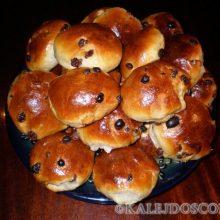 Сдобный булочки с изюмом – очень вкусные