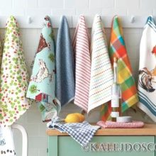 Отстирываем кухонные полотенца без труда