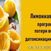Лимонная диета:программа потери веса и детоксикации организма!
