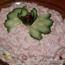 Салат с креветками «Розовый фламинго»